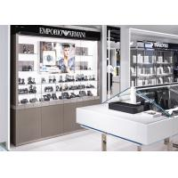 Quality Watch Showroom Display Cases White Painting Color With LED Spot Light for sale