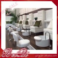 Buy cheap luxury white leather king chair manicure and pedicure furniture spa chair from wholesalers