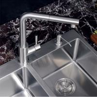 Quality 360 Degree Swivel Kitchen Sink Faucets Brass Brush Plated Finishing for sale