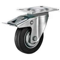 "Buy Industrial Swivel Plate Caster With Soft Rubber Wheel 3"" Thru 8"" Loading Weight at wholesale prices"