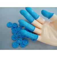 Quality Blue Powder Free Rolled Style Cleanroom Finger Cots Anti Corrosion For Industrial Use for sale