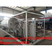 Quality customized 10tons skid lpg gas filling station with 4 digital scales,10tons skid lpg gas tank with digital scales for sale