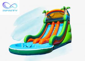 Quality Inflatable Jumping Castle Water Slide Games Land Water Park Slide Bounce House for sale