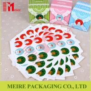 China Christmas Snowman Santa Claus Decoration Label Paper Self-adhesive Sticker on sale