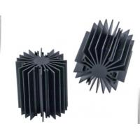 Quality Sunflower Heat Sink /  Aluminum Heatsink Extrusion Profiles For Led Light , Black Anodized for sale
