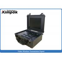 Quality Suitcase Portable Ground Station 17'' LCD Screen Wireless COFDM Video Receiver for sale