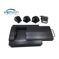 Quality HD Sturdy 3G Mobile DVR 4 Channel 2TB HDD Storage 4 Cameras RS232 For Bus for sale