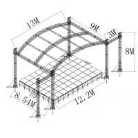 Quality Arc Roof Tower System Stage Lighting Truss Spigot 6 Pillars Aluminum for sale