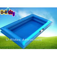 Quality Giant Rectangle Inflatable Paddling Pool With Double Reinforce Strip 10m × 10m for sale