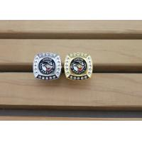 Buy cheap Military Metal 3D Police Badge Emblem Ring With Rhinestones Gold Plating from wholesalers