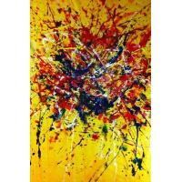 Quality 2012 abstract flower painting house decor for sale