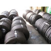 China steel wire rope specifications steel tension cable 6x25 marine steel wire rope on sale