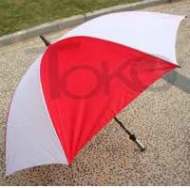 Quality Portable High Wind Vent Umbrella190T Nylon Fabric Plastic Handle 2 Flute Ribs for sale