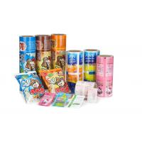 Quality 1 - 9 Colors Printed Easy Peel Lid Film Plastic Roll Stock Film ECO Friendly for sale
