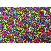 Quality Non - Flammable Patterned Polyester Fabric / Heavy Twill Fabric Safe And Clean for sale