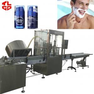 Quality Shaving Foam Bag On Valve Aerosol Filling Machine / BOV Crimping Machine PLC Control for sale