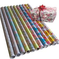 30inch x 120inch  wrapping paper set 80gsm coated paper christmas gift wrapping paper