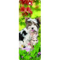 Buy cheap Custom Lovely Dog Lenticular 3D Animal Bookmarks With Tassel For Gifts And Souvenirs from wholesalers