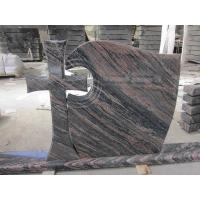 Quality China Aurora Granite Cross Headstones , Graveside Monuments Headstones Heat  Proof for sale
