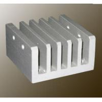 Quality Steel Polished / Electrophoretic Aluminum Heatsink Extrusion Profiles With Fabricating for sale