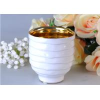 Buy Votive Personalized Candle Holder Ceramic , White Porcelain Candle Holder at wholesale prices