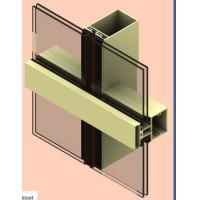 Buy T5 / T6 Aluminum Curtain Wall Profile Oxygenate Coloring For Buildings at wholesale prices