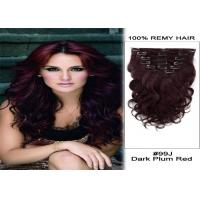 Quality 24 Inch Remy / Virgin Clip In human Hair Extensions Double Weft Human Hair for sale
