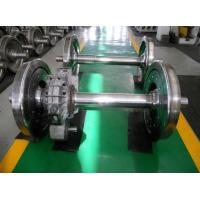 Buy cheap railway wheelset with gear box railraod wheel set with gearbox rail wheelsets from wholesalers