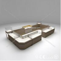 Quality fashion wall wood showcase designs/jewelry free stand design for sale