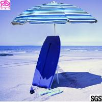 Quality Windproof Folding Sun Beach Umbrella With Vented Tilt Telescoping Pole Adjustable for sale