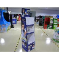 China Portable Corrugated Cardboard Floor Display Stand Eco-friendly Purple on sale