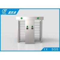Quality Football Court  Full Height Turnstile Double Door Fingerprint Reader 30 Person / Min for sale