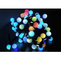 Quality 5 Meters LED String Lights , 50LED RGB Multicolor Cotton Ball Globe String Lights for sale