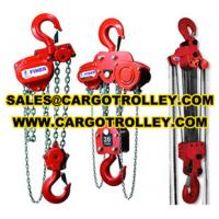Quality Chain pulley blocks price list and manual instruction for sale