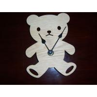 Quality Wooden Bear Clock for sale