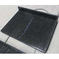 Buy Black Galaxy Kitchen Granite Slab Countertops Cost Gold Copper Colored Specks at wholesale prices