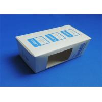 Quality PVC Window Custom Packaging Boxes Full color / Single Color Gloss Lamination for sale