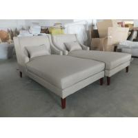 Quality Custom Upholstery Hotel Lounge Chairs / Leather Chaise Lounge Chair for sale