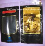 Quality Six Cigar Plastic Bags / Cigar Ziplock Bags OPP PE Laminated Material for sale