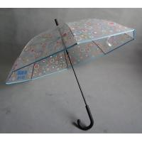 Quality Advertising Clear Transparent Umbrella with silkscreen print on the canopy for sale