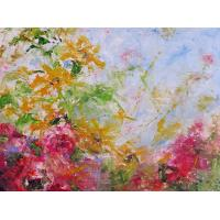 Quality landscape painting tree wall art TV set painting for sale