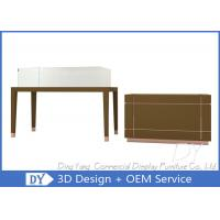 Buy Simple Matte Brown Glass Display Cabinets With Lights For Jewelry Shop at wholesale prices
