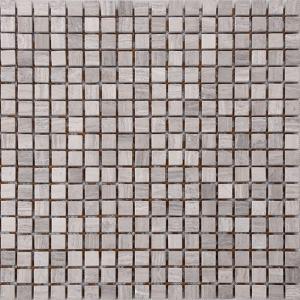 Quality Wood Grain Stone Mosaic Bathroom Sink Splashback Tiles , Bathroom Countertop Tile Morden Design for sale