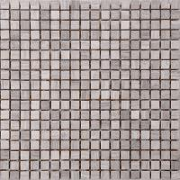 Quality Wood Grain Stone Mosaic Bathroom Sink Splashback Tiles , Bathroom Countertop Tile Morden Design for sale