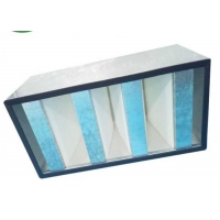 Buy cheap Galvanized Frame Mini Pleat HEPA Filter / V Bank HEPA Filter For Clean Room from wholesalers