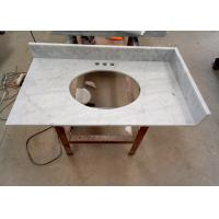 Quality 22 Inch Prefab Vanity Tops / White Carrera Marble Countertops Durable For Home for sale