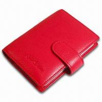 Quality Card Wallet, Measures 10.5 x 8.5 x 1cm, Various Colors are Available, Made of PVC Leather for sale