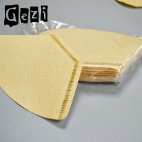 Quality 300mm Light Yellow Small Coffee Filters Wood Pulp ISO 9000 Custom Size for sale
