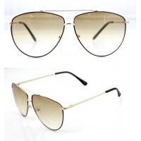 Quality Modern Men and Lady Full Frame Sunglasses With White Metal Frame for sale