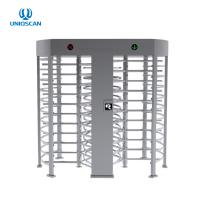China 1.5mm Thickness SS304 Double Lane Full Height Turnstile on sale